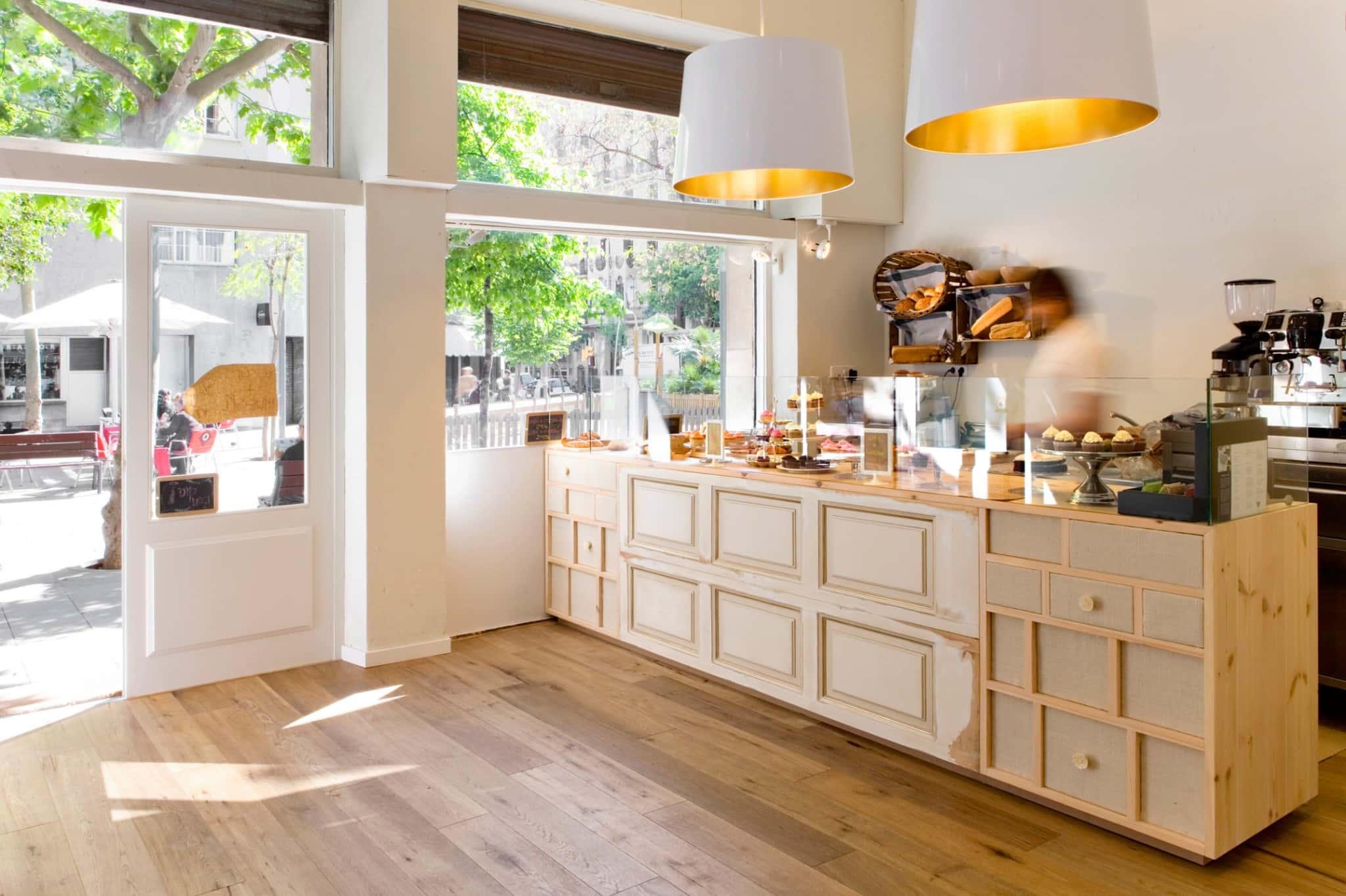 Decoración e interiorismo en Cup & Cake Barcelona