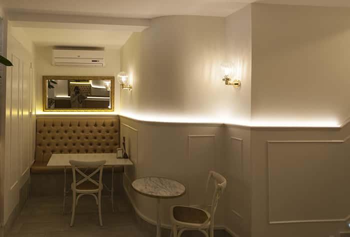 Lámparas de diseño a medida en Cafetería Regine