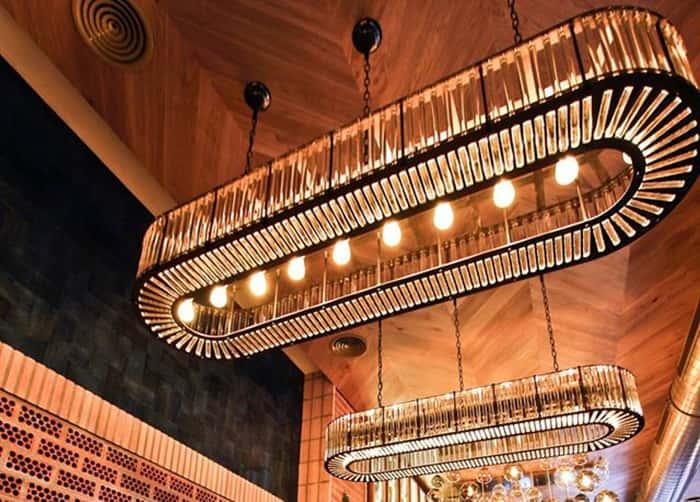 Lámpara de techo colgante en Restaurante La Canica de la Infanta Mercedes