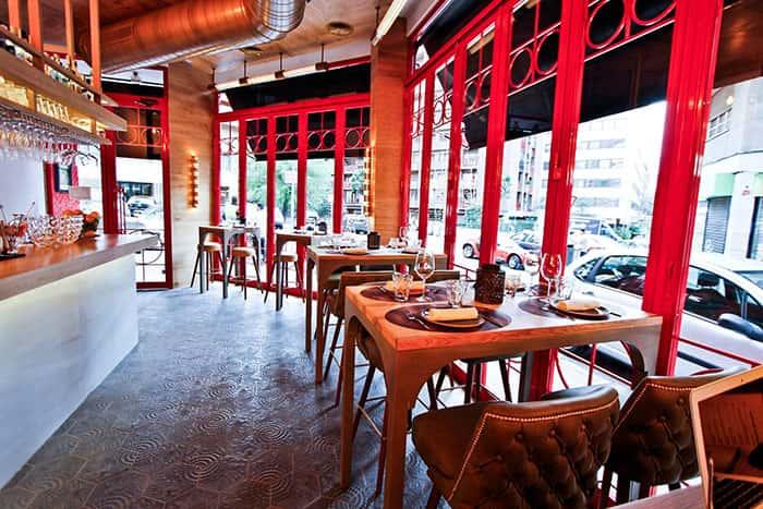 Apliques de pared de diseño a Restaurante La Canica de la Infanta Mercedes