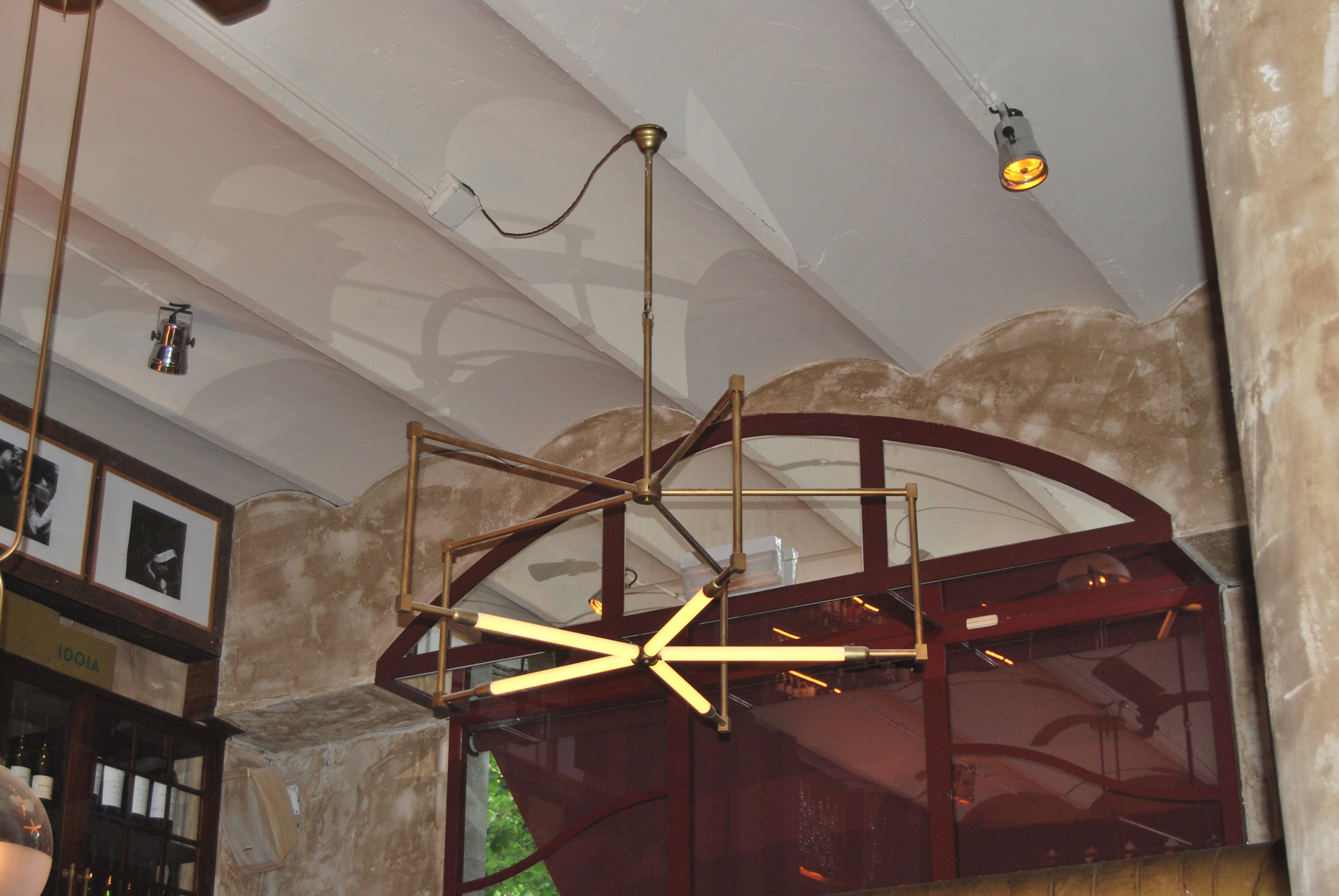 fabricacion de lampara a medida dajor techo