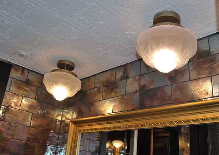 Plafón de techo de diseño vintage en Restaurante La Canica de Campo de las Naciones