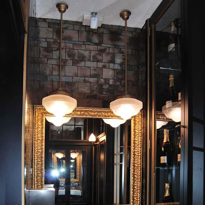 Lámparas de diseño en Restaurante La Canica de Campo de las Naciones