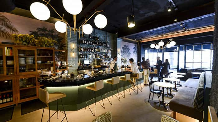 Lámpara a medida en Restaurante Gonzalín en Madrid