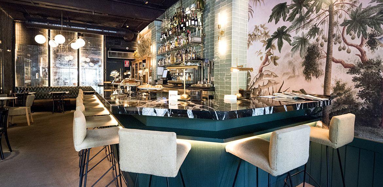 Apliques vintage en Restaurante Gonzalín en Madrid