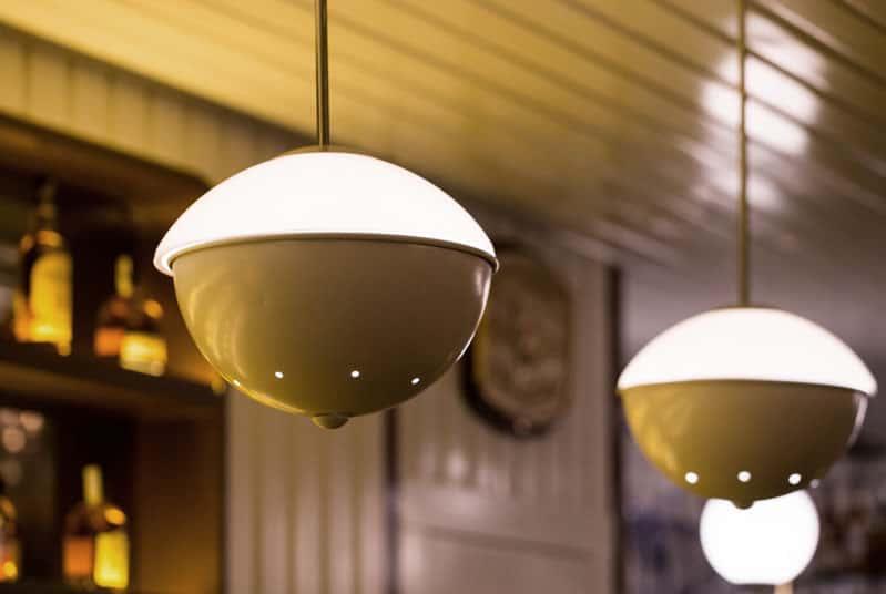 Lámparas de techo colgantes metal y cristal opal