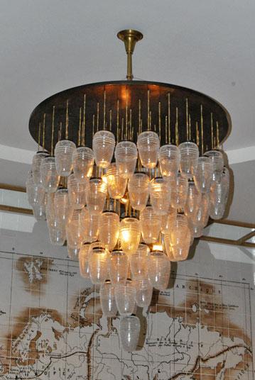 Lámparas de techo de diseño vintage con tulipas de cristal