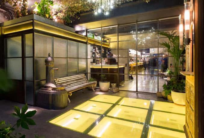 Iluminación de bares en Restaurante La Paisana de Casa Gracia de Barcelona