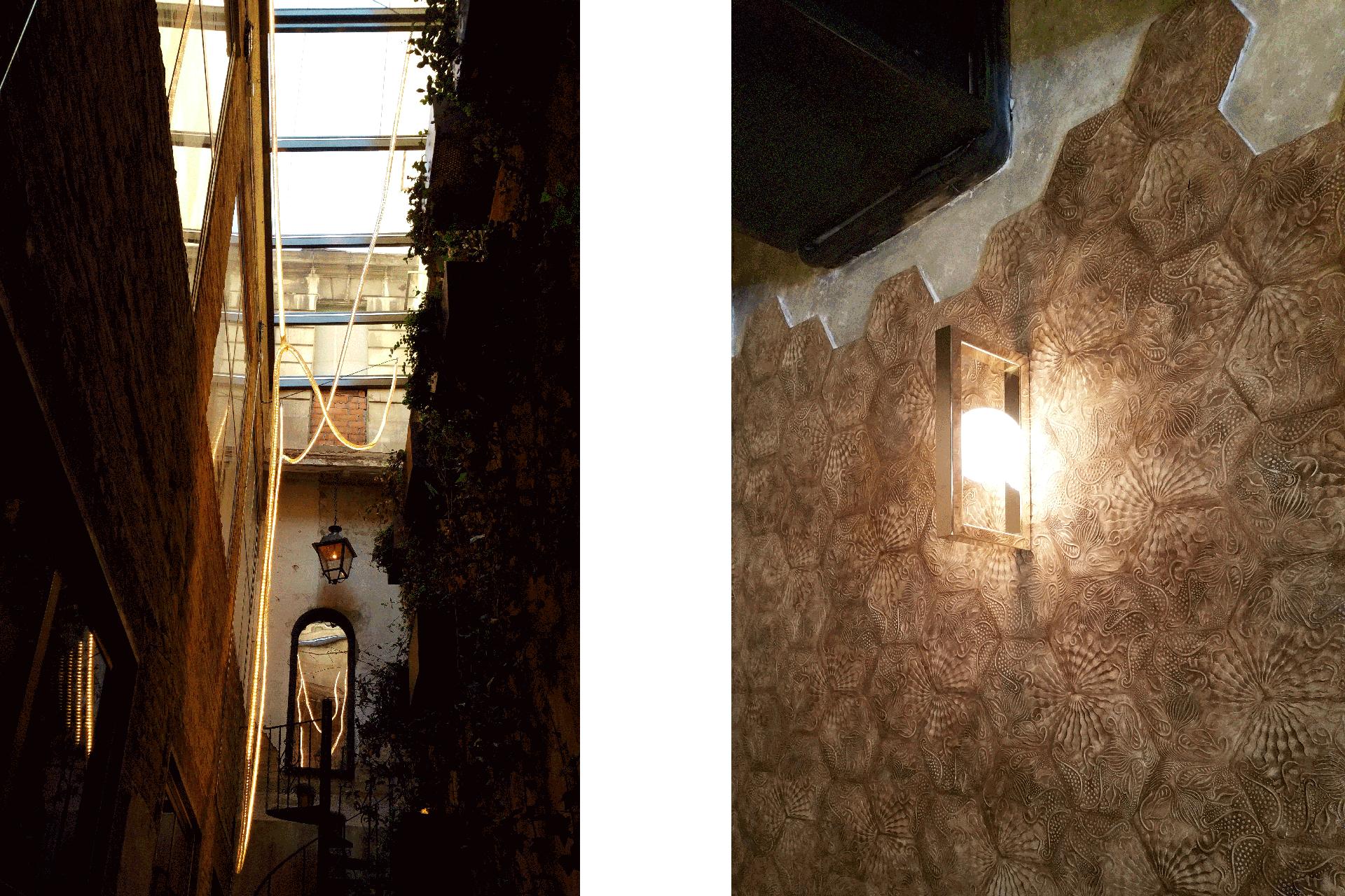 Lámpara a medida en Restaurante La Paisana de Casa Gracia de Barcelona