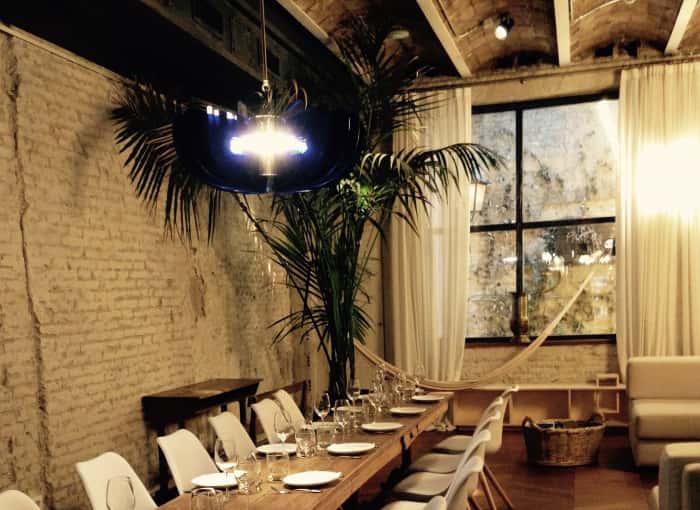 Lámpara de techo en Restaurante La Paisana de Casa Gracia de Barcelona