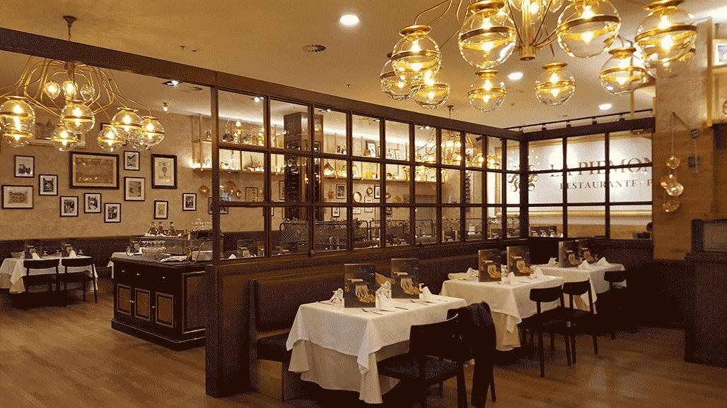 Outlet lámparas de techo en Cadena de Restaurantes La Piamontesa en Tarragona y Madrid