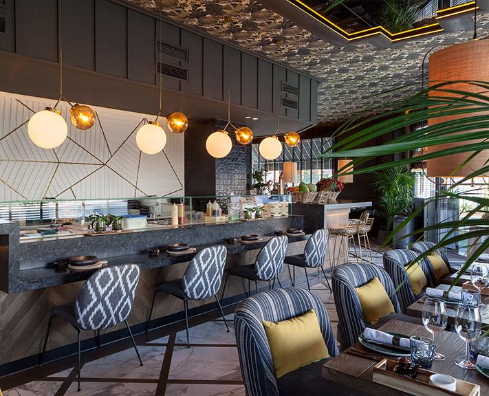 Lámparas en Restaurante Paulina de Madrid