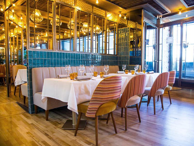 iluminación vintage restaurante madrid