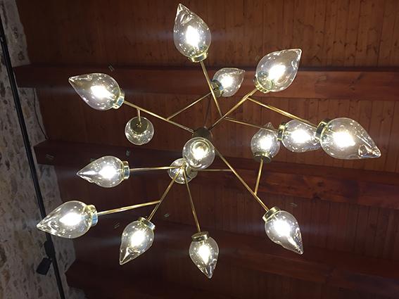 lampara colgante acabado oro brillo estilo vintage
