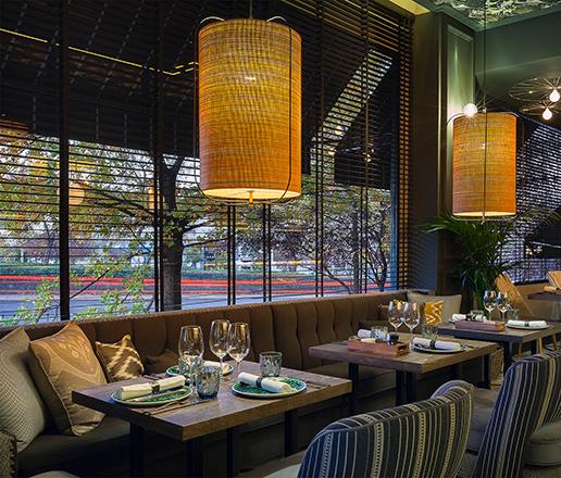 Lámparas de techo en Restaurante Paulina de Madrid