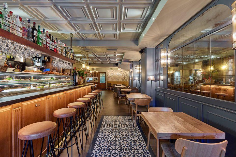 interiorismo restaurante sandor barcelona