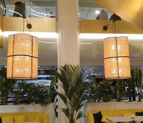 iluminacion lamparas fibras naturales