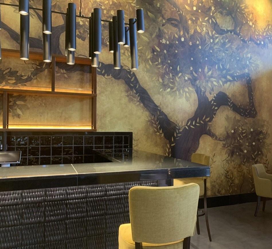 iluminacion vintage restaurante kaori canarias